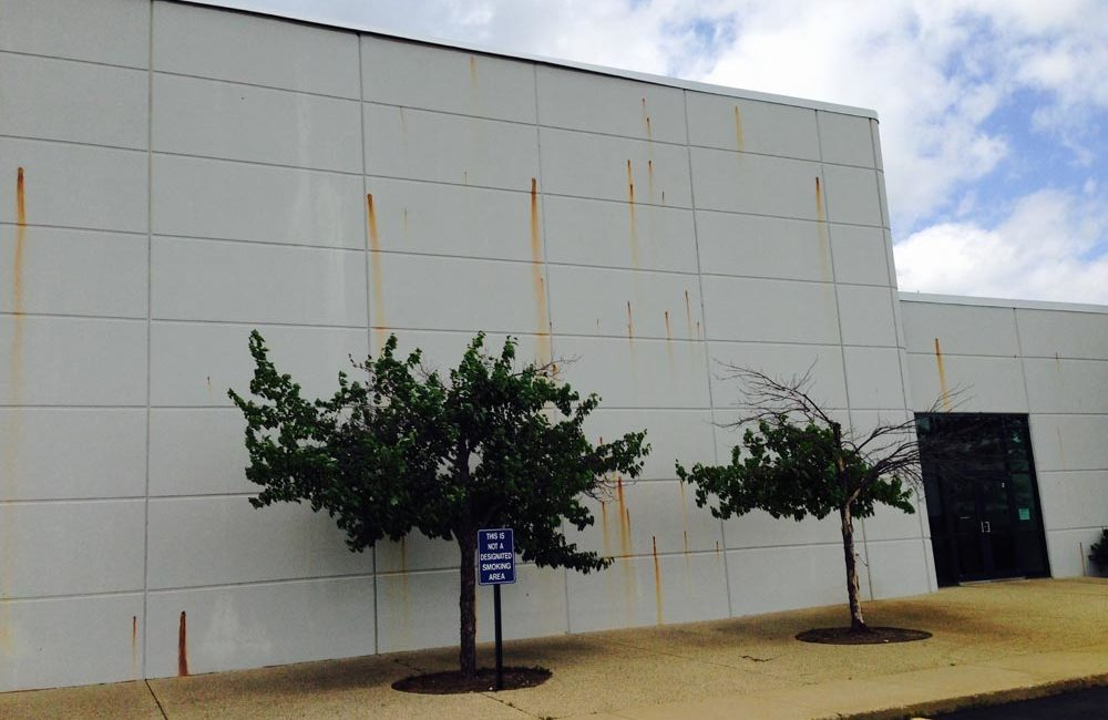 Exterior Commercial Painting - Stack-On, McHenry, IL  (BEFORE)
