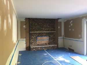 Brick Fireplace-Before