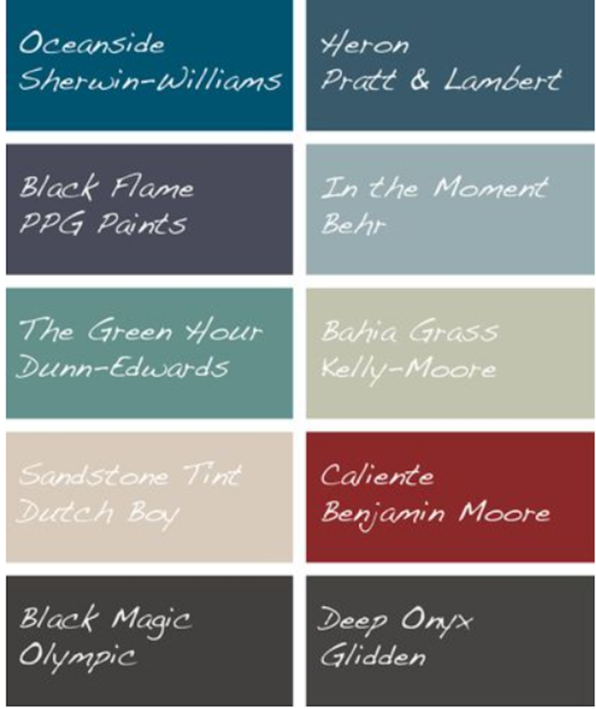 2018 Paint Colors
